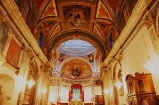 Calatabiano (CT) - Crocifisso ligneo di Giovanni Salvo D'Antonio - Altare maggiore della Chiesa Maria SS. Annunziata